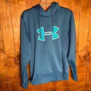 Under Armour Green Pullover Hoodie Size Medium